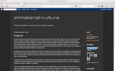 Immaterial Culture art blog