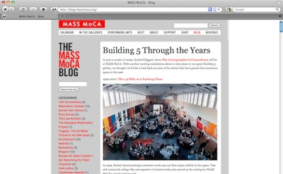 Mass MOCA art blog