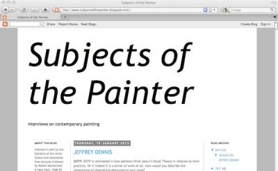 Subjects of the Painter art blog