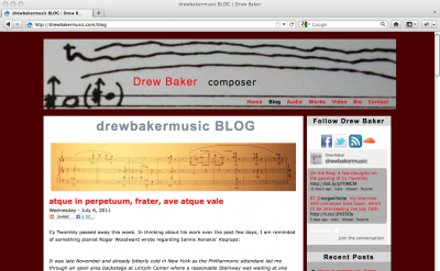 Drew Baker Music blog