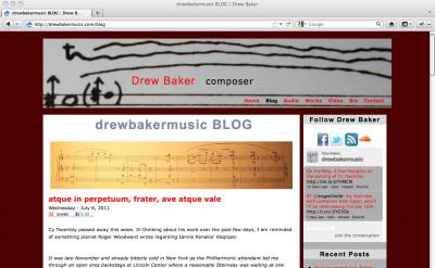 Drew Baker Music blog