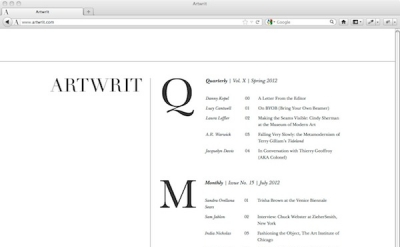 Artwrit art magazine and blog