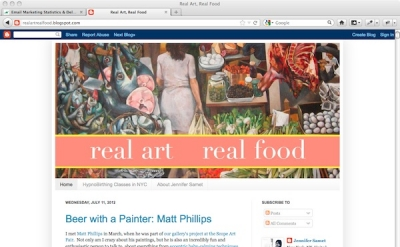 Real Art, Real Food art blog