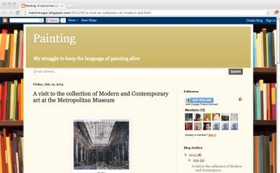 Martin Mugar art blog