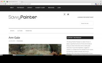 Savvy Painter blog