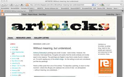 Artnicks art blog
