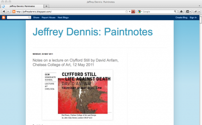 Jeffrey Dennis: Paintnotes