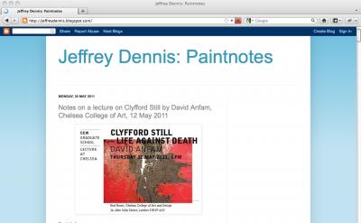Jeffrey Dennis: Paintnotes
