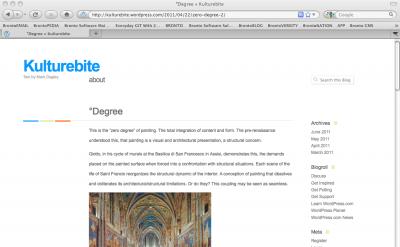 Kulturebite art blog by Mark Dagley