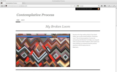 Contemplative Process art blog