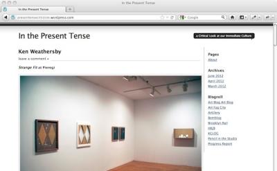In the Present Tense art blog