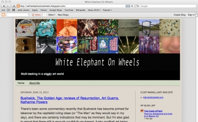 White Elephant on Wheels art blog