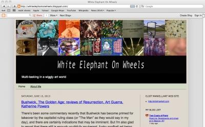 White Elephant on Wheels art blog