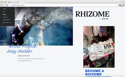 Rhizome blog