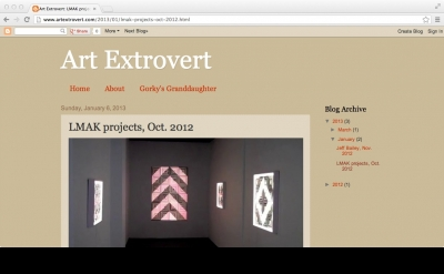 Art Extrovert video blog by Christopher Joy