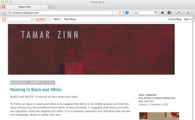 Tamar Zinn art blog