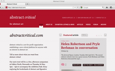 abstract critical art blog