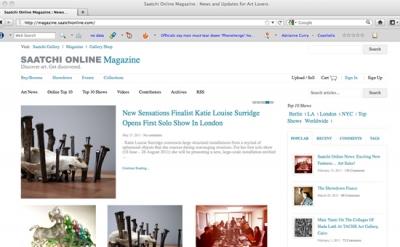 Saatchi Online Magazine art website