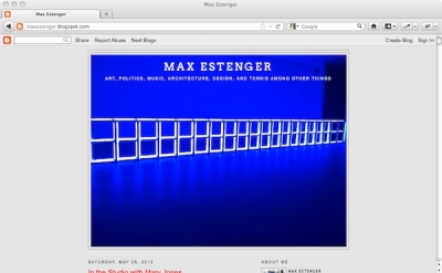 Max Estenger art blog