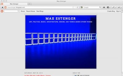 Max Estenger art blog