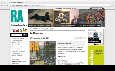 Royal Academy Magazine blog
