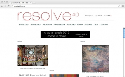 Resolve 40 art magazine blog
