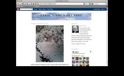 Carol Diehl's Art Vent blog