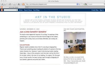 Art in the Studio blog