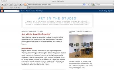 Art in the Studio blog