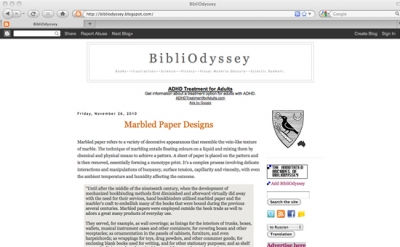 Bibliodyssey blog