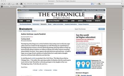 Brainstorm Blog: Chronicle of Higher Education