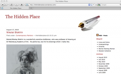 The Hidden Place art blog
