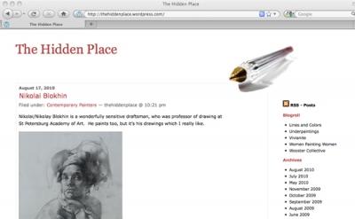 The Hidden Place art blog