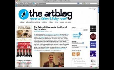 the artblog by Roberta Fallon & Libby Rosof