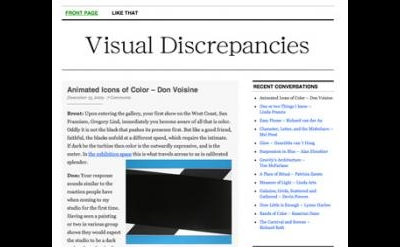 Visual Discrepancies blog