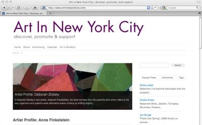Art in New York City blog