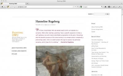 Painting OWU Blog