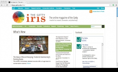 The Getty Iris Art blog