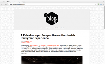 The Jewish Museum Blog