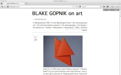 Blake Gopnik on Art blog