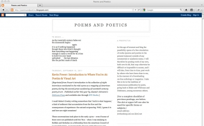 Poems and Poetics