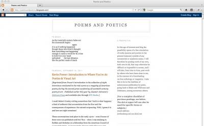 Poems and Poetics