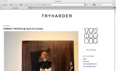 Tryharder LA art blog