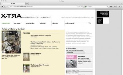 X-TRA Contemporary Art Quarterly