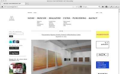 Mousse art magazine