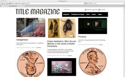 Title Magazine Art Blog