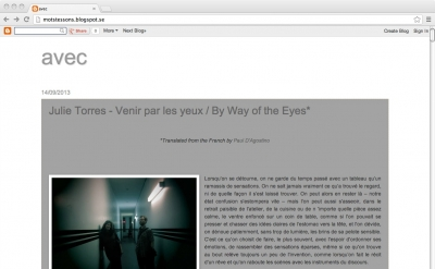 Avec - art blog by Armand Dupuy