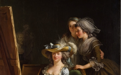 (detail) Adélaïde Labille-Guiard, Self–Portrait with Two Pupils, Mademoiselle Ma