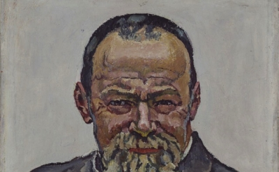 (detail) Ferdinand Hodler, Self-Portrait, 1916, oil on canvas,15 3/8 x 16 inches