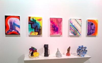 Joanne Greenbaum, Studio View (photo: John Yau)